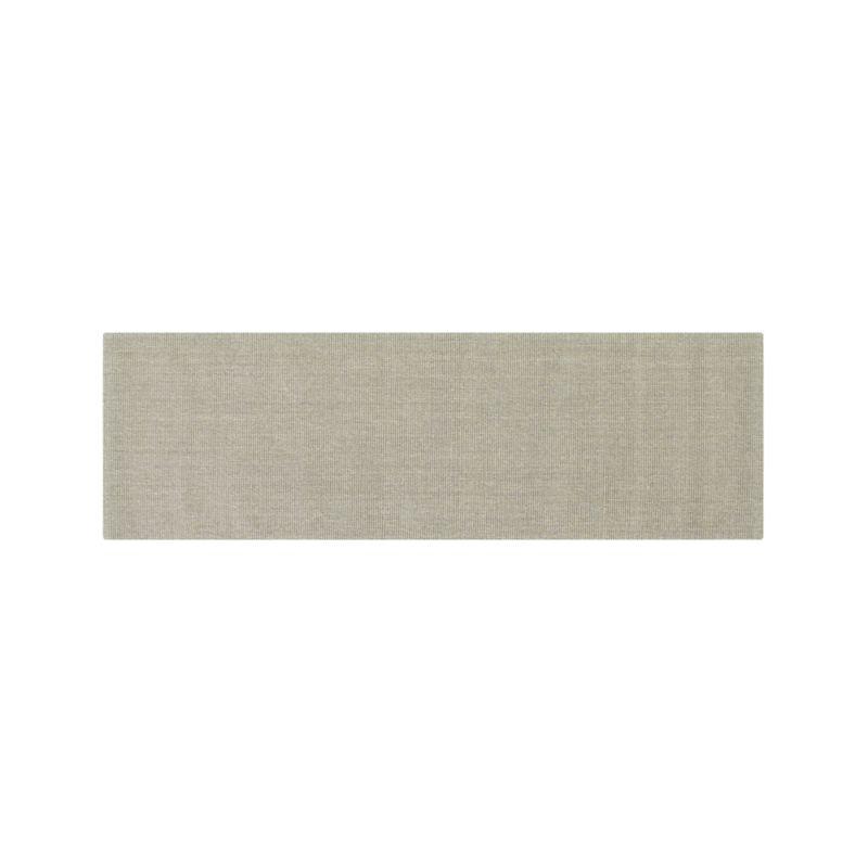 Sisal Dove Grey 2.5'x8' Rug Runner