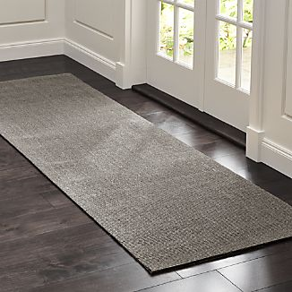Sisal Grey 2.5'x8' Rug Runner