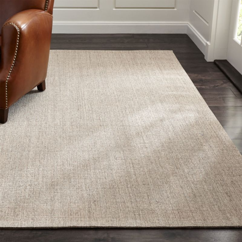 Organic Cotton Belgium Linen Bath Rug: Crate And Barrel