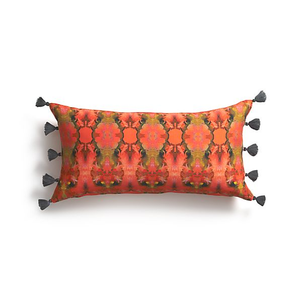"Sisi 24""x12"" Pillow with Feather-Down Insert"