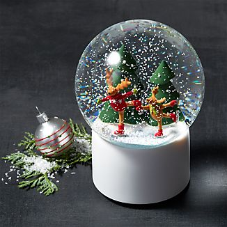Skating Reindeer Snow Globe