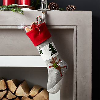Skating Reindeer Stocking