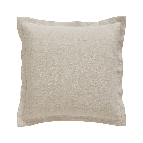 "Skylar Natural 18"" Pillow with Feather-Down Insert"