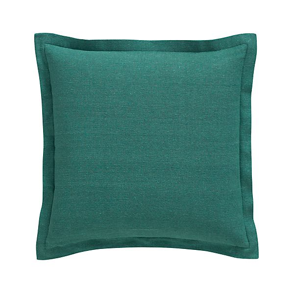 """Skylar Teal 18"""" Pillow with Feather-Down Insert"""