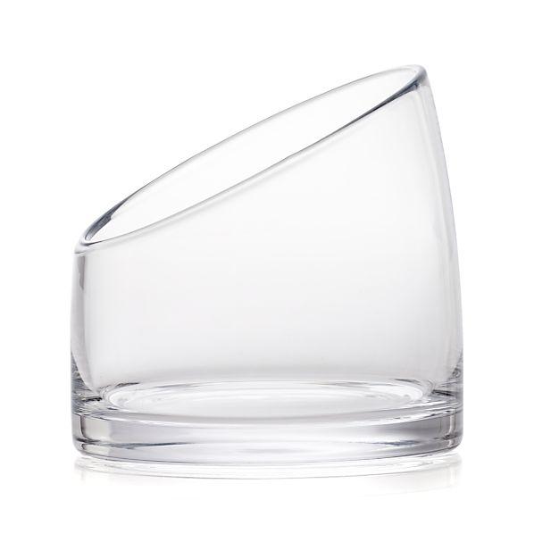 Slant Large Glass Vessel