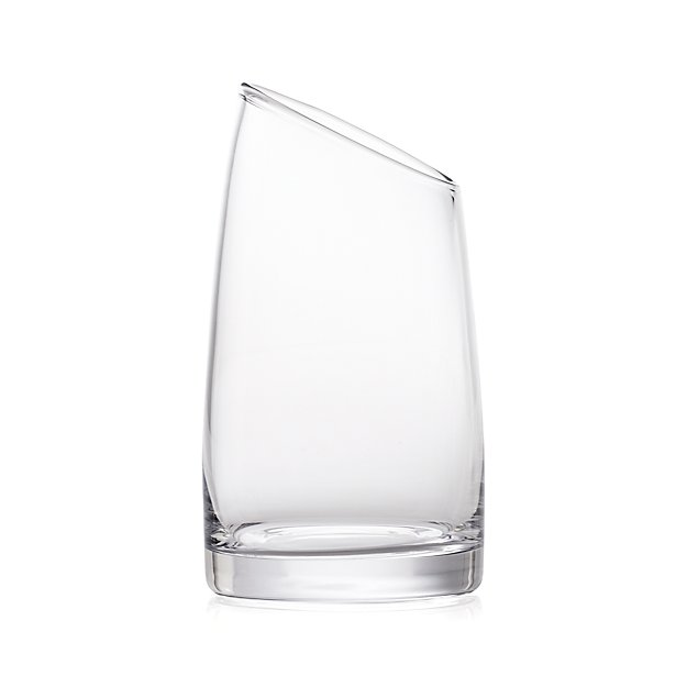 Slant Medium Glass Vessel