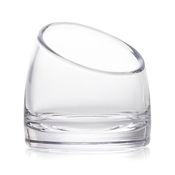 Slant Small Glass Vessel