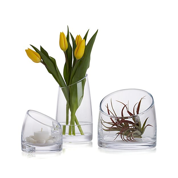 Slant Glass Vessels