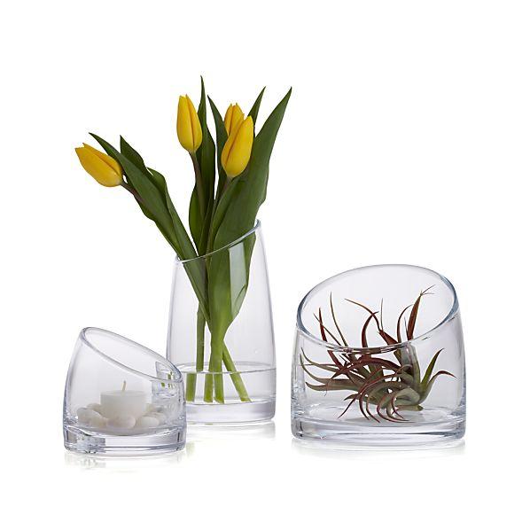 Slant Glass Vessels