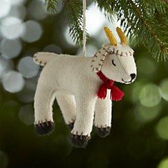 Sleepy Goat Felt Ornament