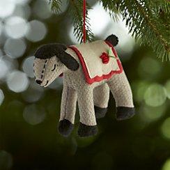 Sleepy Lamb Felt Ornament