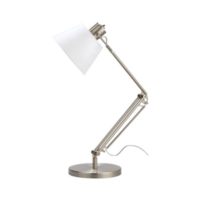 Slim Desk Lamp with White Shade
