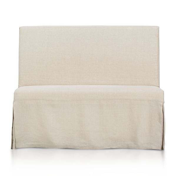 Slip Bench with Linen Slipcover