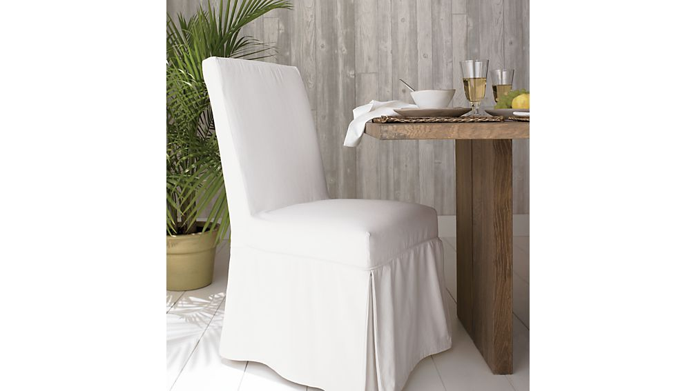 White Slipcover Only For Slip Side Chair Crate And Barrel
