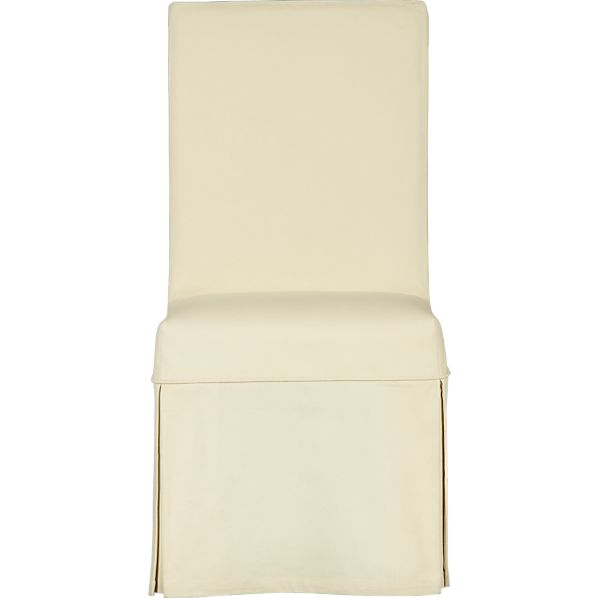 Slip Side Chair with Buttercream Slipcover
