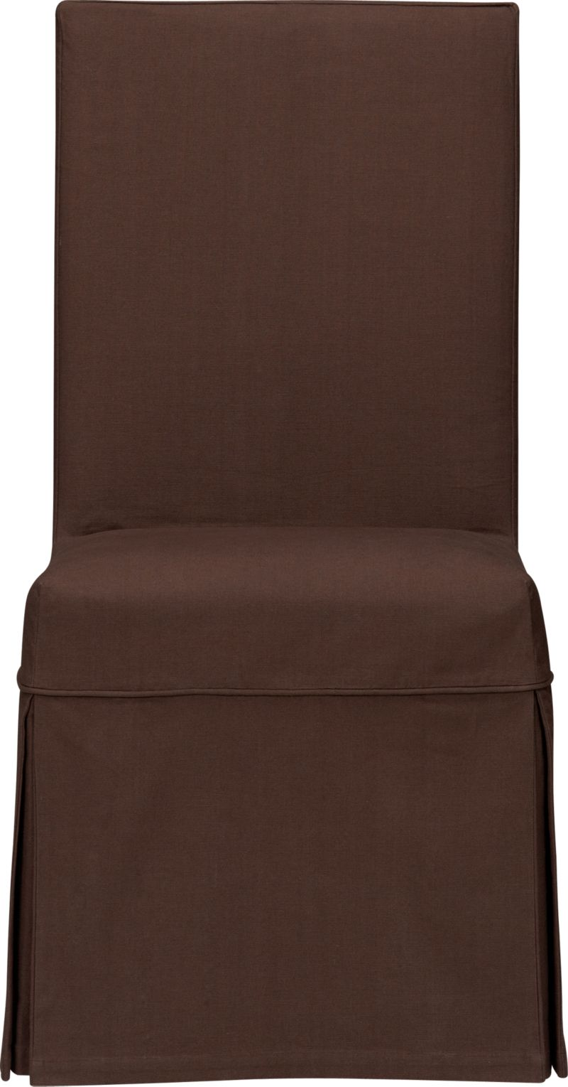 Custom-fitted, washable slipcover is expertly tailored with box pleats and a clever panel that secures the cover to our Slip Side Chair (sold separately) with self-adhesive tab closures.<br /><br /><NEWTAG/><ul><li>100% cotton canvas</li><li>Machine washable</li><li>Made in India</li></ul><br />