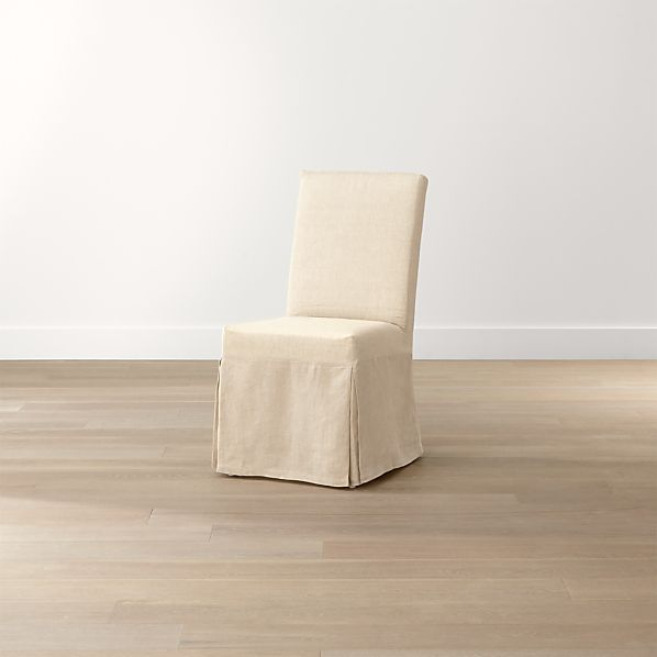 Slip Linen Slipcovered Dining Chair