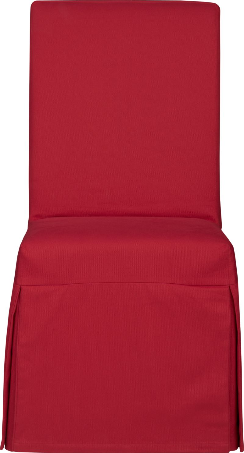 Custom-fitted, washable slipcover is expertly tailored with box pleats. A clever panel secures the cover to our Slip Side Chair (sold separately) with self-adhesive tab closures and a decorative sash adds an extra design detail.<br /><br /><NEWTAG/><ul><li>100% cotton canvas</li><li>Machine washable</li><li>Made in India</li></ul>