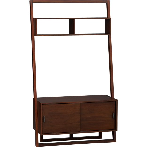 Sloane Java 43 75 Quot Leaning Media Stand Crate And Barrel