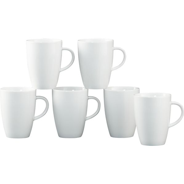Set of 6 Small Coffee 8 oz. Mugs