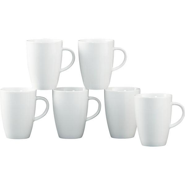 Set of 6 Small Coffee 8 oz. Mugs
