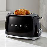 Smeg Black 2-Slice Retro Toaster
