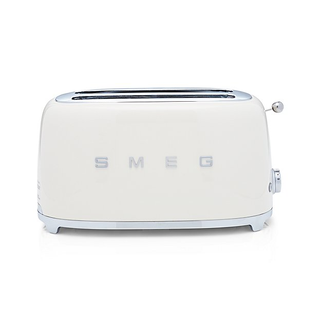Cream Toaster Ovens ~ Smeg cream slice toaster crate and barrel