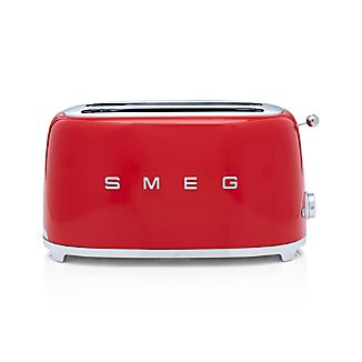 Smeg Red 4-Slice Toaster
