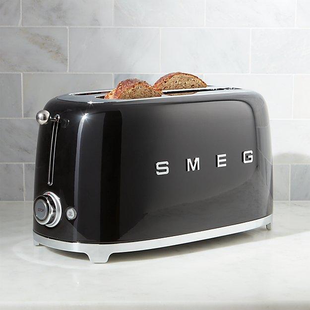 Smeg Black 4-Slice Toaster