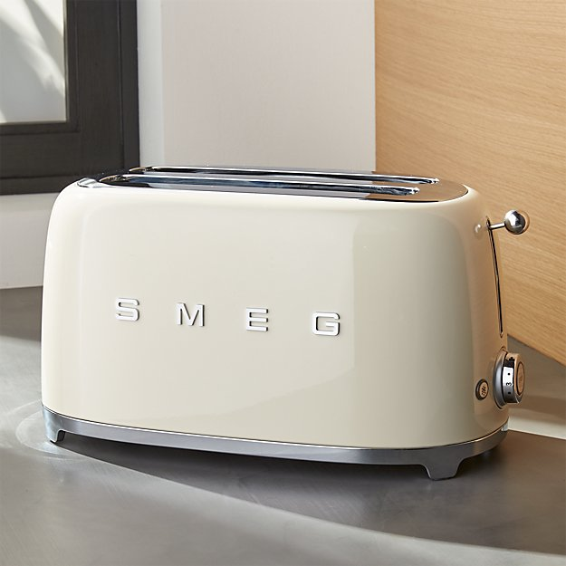 smeg cream 4 slice toaster crate and barrel. Black Bedroom Furniture Sets. Home Design Ideas