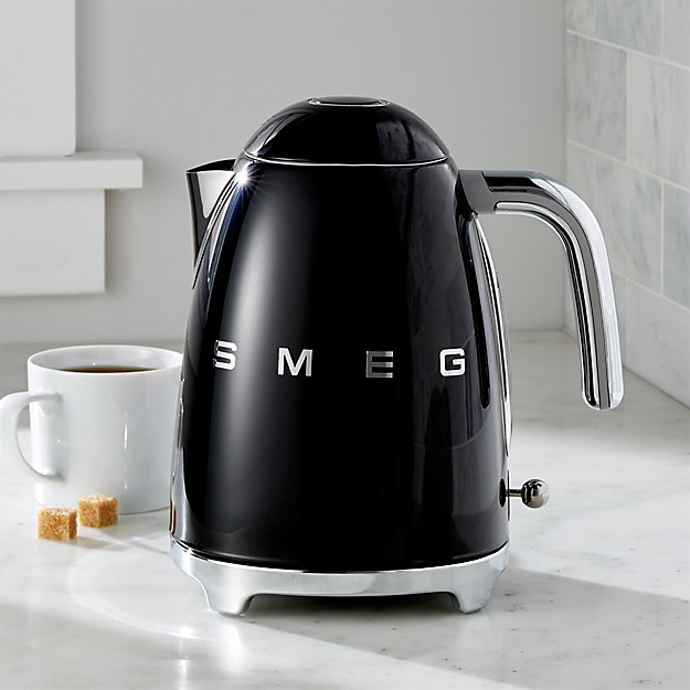 Smeg Black Retro Electric Kettle | Crate and Barrel