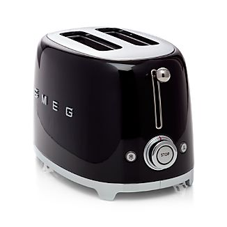 Smeg Black 2-Slice Retro Toaster