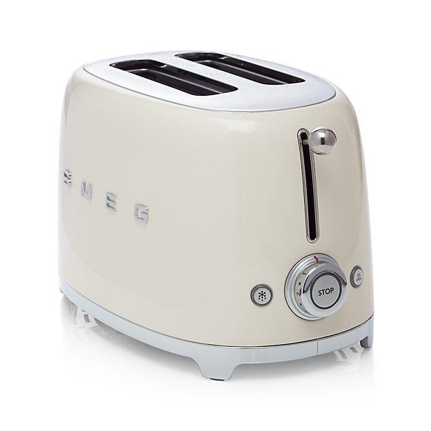smeg cream 2 slice retro toaster crate and barrel