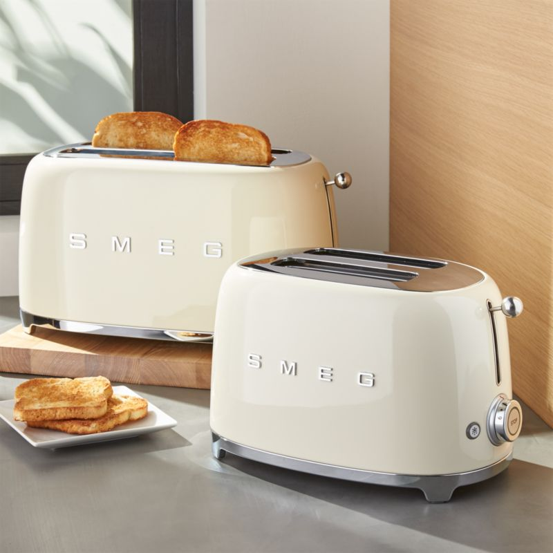 smeg cream retro toasters crate and barrel. Black Bedroom Furniture Sets. Home Design Ideas