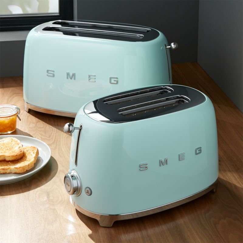 Smeg Mint Green Retro Toasters Crate And Barrel