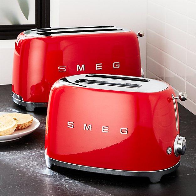 Smeg Red Retro Toasters