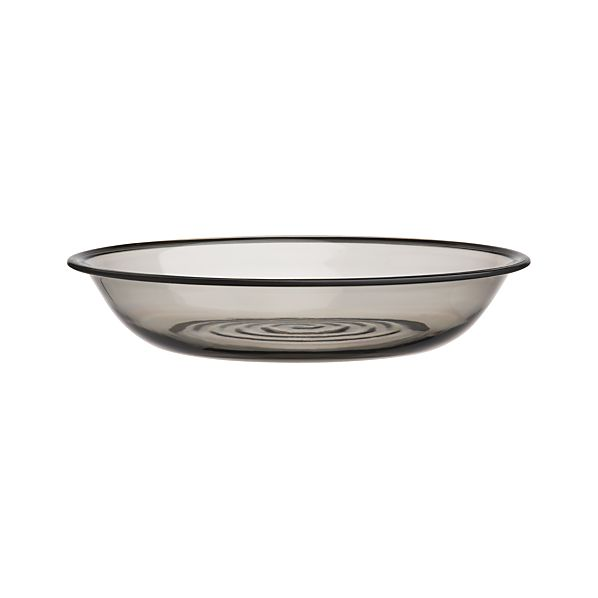 "Smoke Acrylic 13.75"" Serving Bowl"