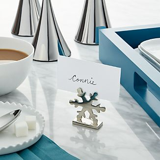 Snowflake Place Card Holder