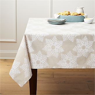 Snowflake White Tablecloth