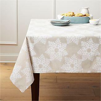Snowflake White Tablecloth