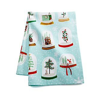 Snow Globes Dish Towel