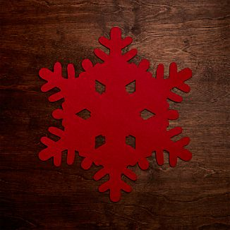 Red Snowflake Felt Placemat