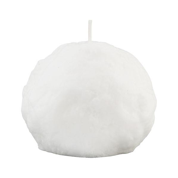 Small Snowball Candle