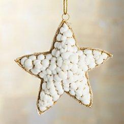 Snowball Gold Star Ornament