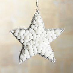 Snowball Silver Star Ornament