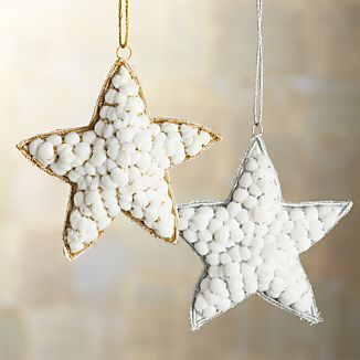 Snowball Star Ornaments
