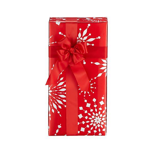 Metallic Red Snowburst Gift Wrap