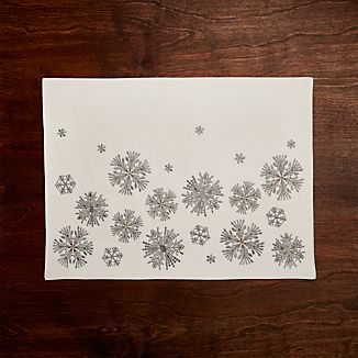 Snowfall Embroidered Placemat