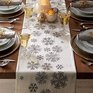 Snowfall Embroidered Table Runners