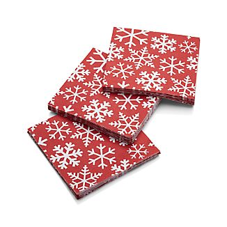 Snowflake Beverage Napkins Set of 20